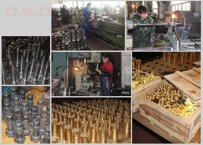 Self Drilling 4 Degree Small Rock Drill Bits , Hex 12 Hex 19 Rock Hammer Drill Bits