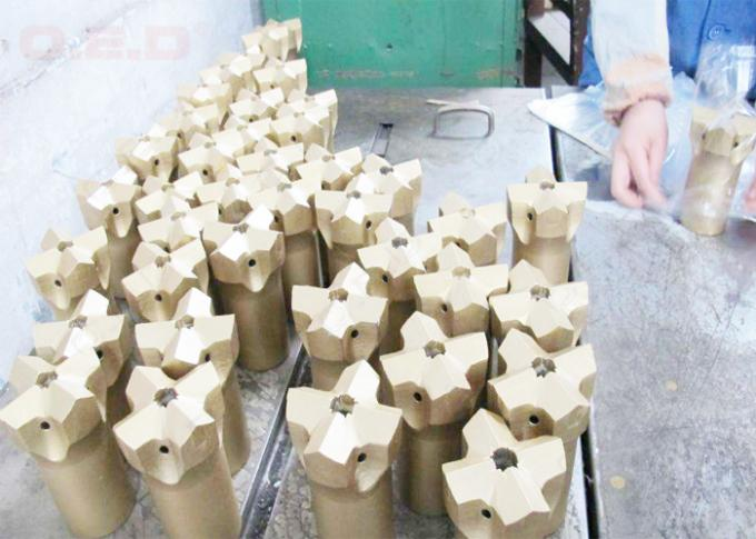 Fine Polished Tapered Equipment Cross Bit , Tungsten Carbide Rock Bits