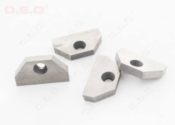 China Customized Tungsten Carbide Parts Wood Lathe Carbide Inserts With Mounting Hole supplier