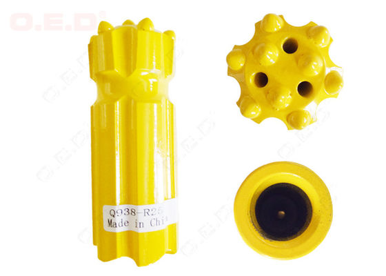 China R38 Round Thread Button Bit , 38mm Drill Bit For Mining Machine Parts distributor