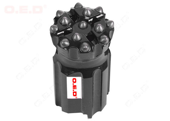 China 13 Buttons Dome Flat Thread Button Bit , Button Drill Bit With Long Life factory